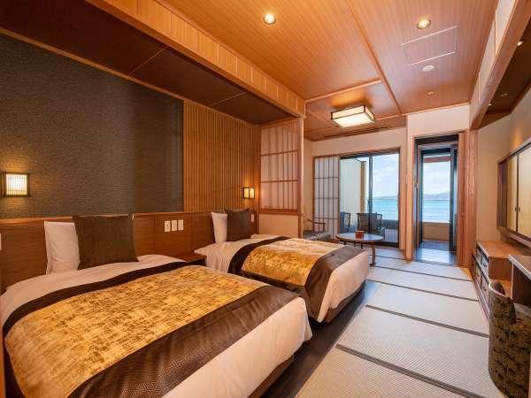 【特別室ツイン一例】ワンランク上の滞在が叶うツインタイプの特別室。