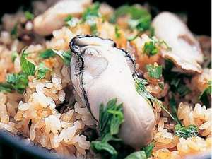 冬季には特産の冬カキのカキ御飯も♪