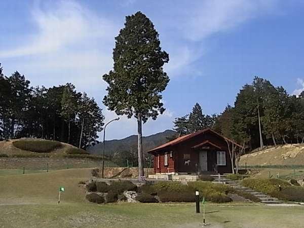 大自然の中の一軒家のログハウス