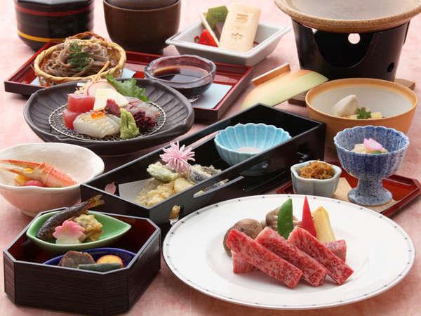 【満足♪湯っクレコプラン】旬の食材や地元の食材を使用した、会席料理をご用意いたします!
