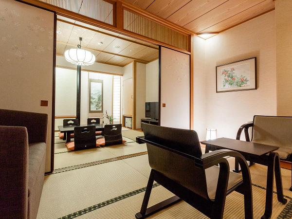 ■【東館・温泉付客室『風』】雰囲気のある客室温泉が癒してくれます。