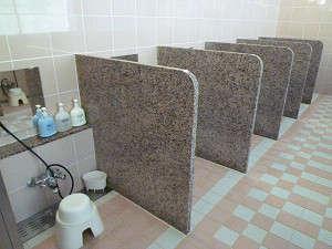 大風呂洗い場男女各13ブース