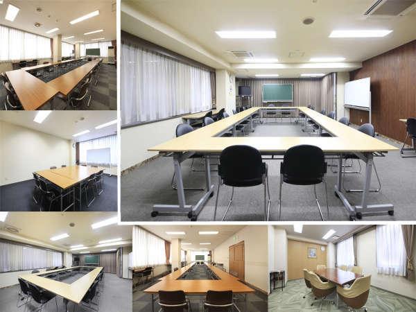 全7室の貸会議室がございます。研修会などにご利用くださいませ。