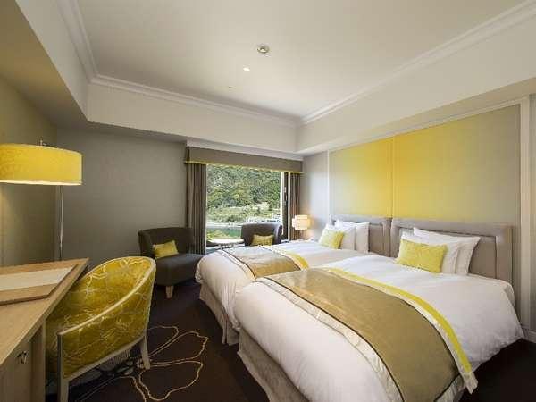 プレミアム ステーションビューツイン客室(※一例)シモンズ社製のベッドで快適な睡眠をお届け致します
