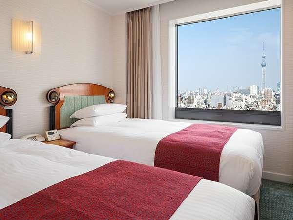 デラックスファミリールームは、東京スカイツリー側・高層階・洗い場付のお風呂付!