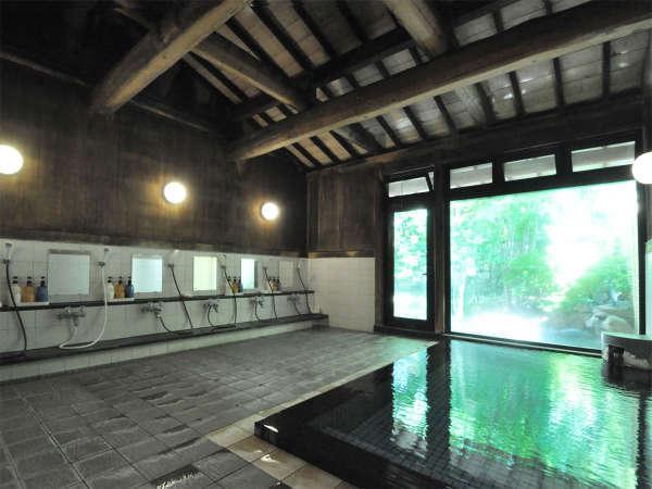 【温泉】男性内湯。「浅間温泉」は明治時代には謝野晶子や竹久夢二ら多くの文人・墨客に愛されました。