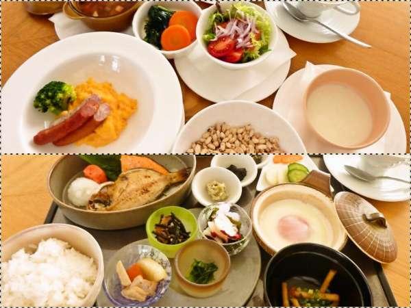 朝食は「和食メニュー」もしくは「洋食メニュー」からお選び頂けます