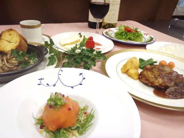 ディナーのコース料理