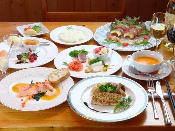【夕食】フレンチ&イタリアンをベースにしたコースでおもてなし