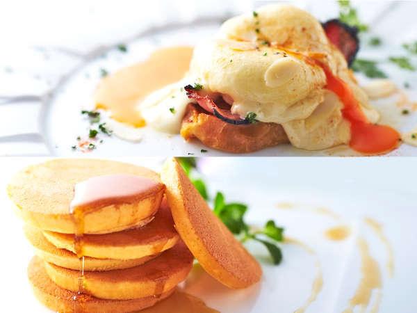 ■朝食ビュッフェ■選べるサイドメニュー【テーブルオーダー制】エッグベネディクトなど全6種類!
