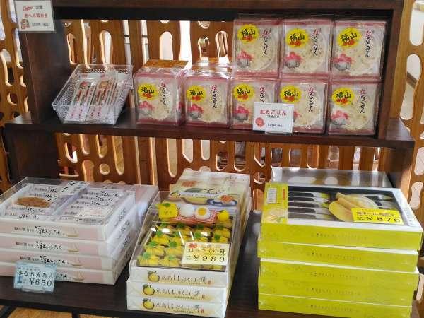 お土産コーナー 広島県内のお土産を置いています♪