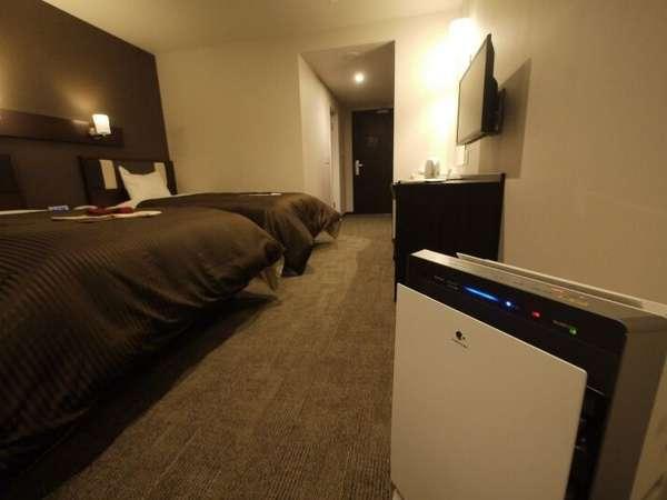 全てのお部屋に加湿器が付いております。