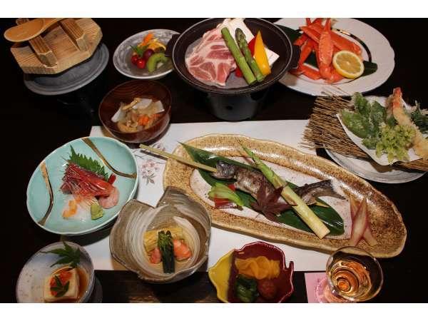 【三国峠温泉 峠の湯 御宿本陣】夕食は新潟のうまさぎっしり三国会席!朝食も和食膳でご用意!