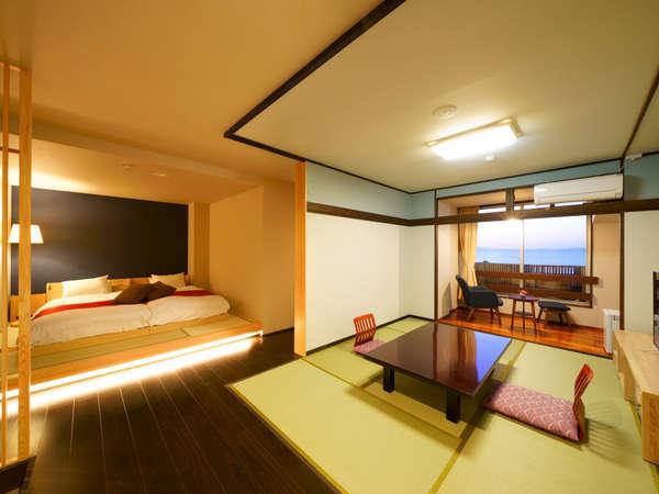 リニューアルした海の見えるお風呂付き和洋室