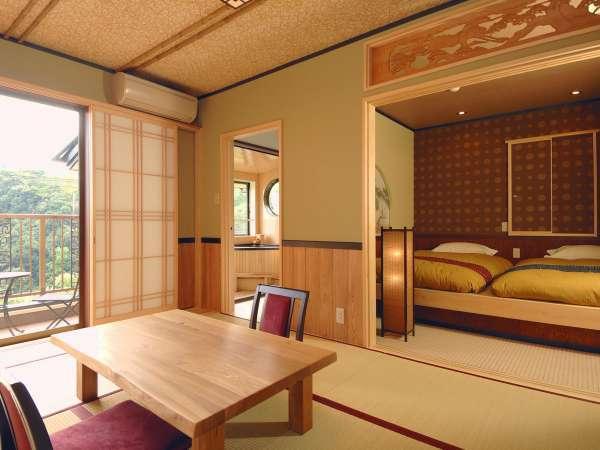 【花菖蒲】明るい雰囲気の和室になっています。