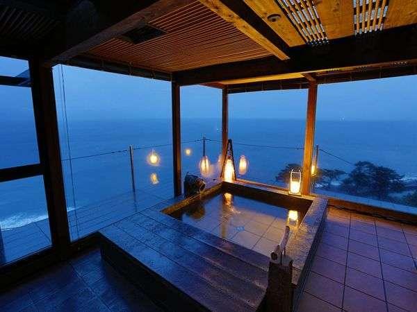 【貸切展望風呂】駿河湾と富士山・夕日をご覧になれる貸切風呂「夕日のかがやき」