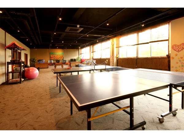 プレイスペース。卓球・ビリヤード・ダーツ・カラオケ・テレビゲーム等ございます。