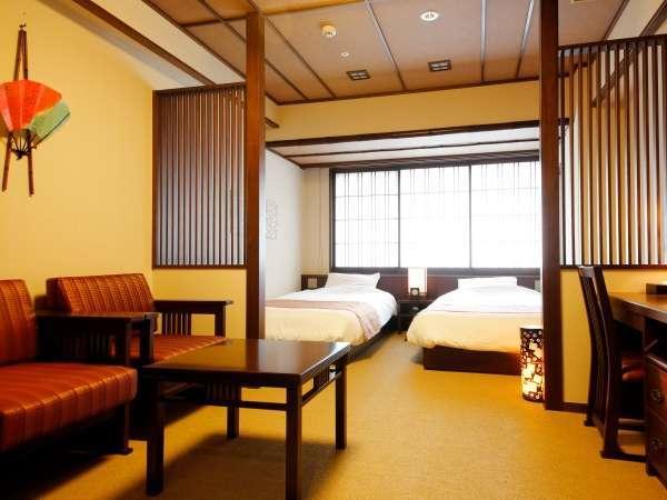 【客室】京町家ツイン/約23㎡/京町家の風情を取り入れたお洒落な洋室。(定員:2名)