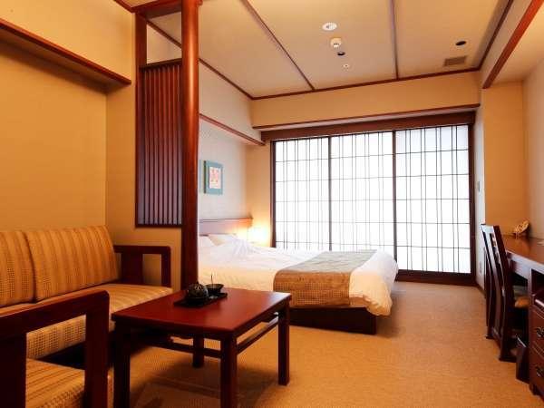【客室】京モダンスーペリアダブル/約23㎡/カップルに人気の客室。(定員:1~2名)