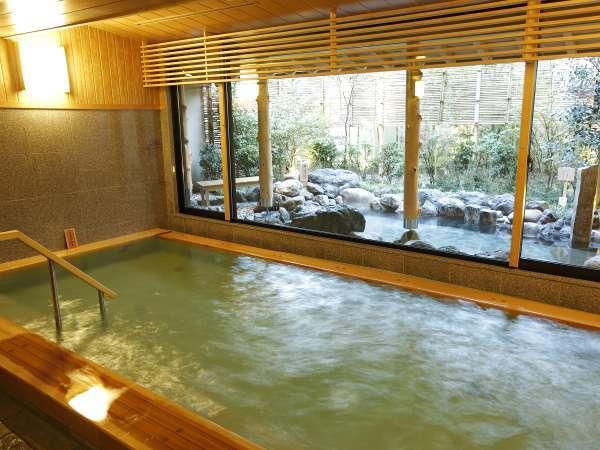 【大湯屋・内風呂】男女別 嵐山温泉を満喫頂けます。(効能:神経痛・慢性疲労・うちみ・くじき等)
