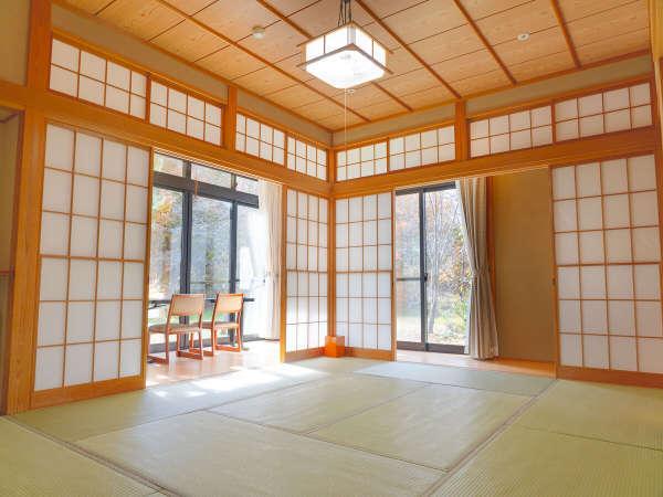 【ゆうぎり】広々とした和室8畳+広々縁側。和室全てが角部屋の造りとなっております