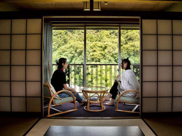 【和室】客室から望む長瀞渓谷の自然を堪能♪