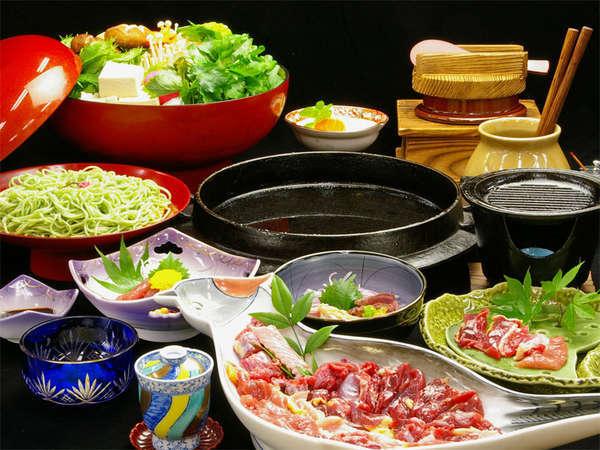 ■きじフルコース(一例)■元祖きじ料理発祥の旅館で食べるきじ料理のフルコース。