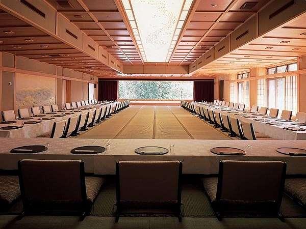 龍宮殿別館にある大宴会場『鳳凰』。通常は『お食事処』として使用しております。