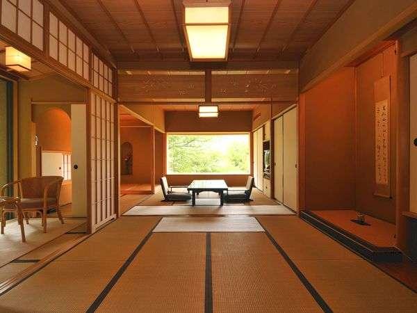 別館和室/本間13畳+8畳、室内温泉浴室付き