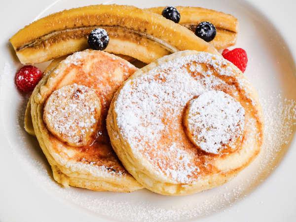 朝食:リコッタチーズパンケーキ