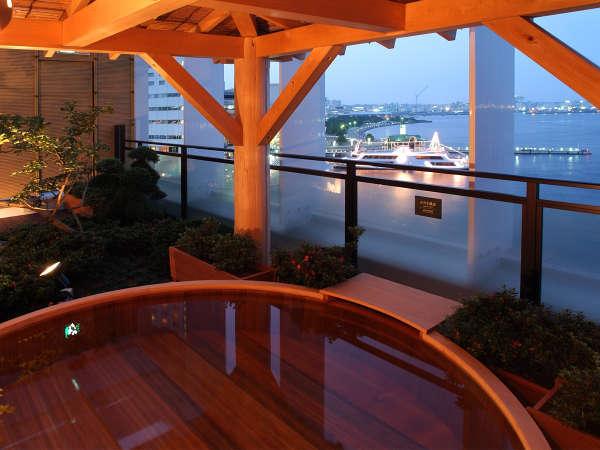 【湯河原温泉】横浜港に面した開放的な露天風呂