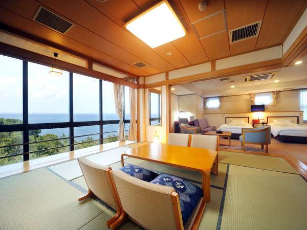 *【スイート】シーガルスイート(ベッドルーム+和室)/景色は当館の中で最高級のお部屋。