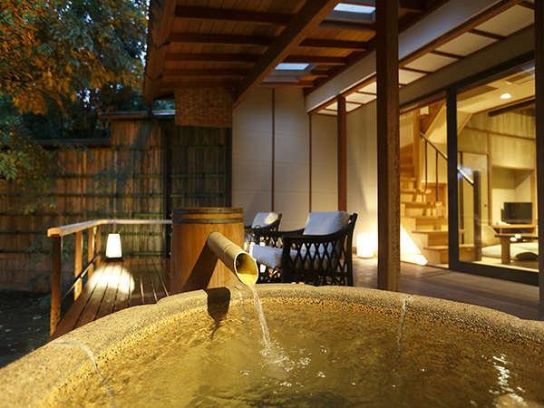 【露天付メゾネットスイート】贅沢なメゾネット露天風呂付客室です。