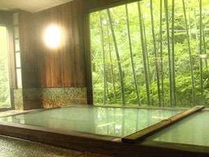 *温泉浴場(大)美しい緑にうっとり♪美容や万病に効く効能豊かな泉質にも感動!