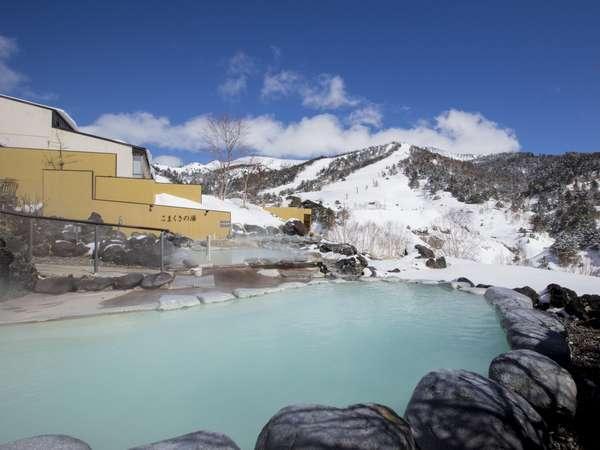 冬の絶景「雪見露天風呂」
