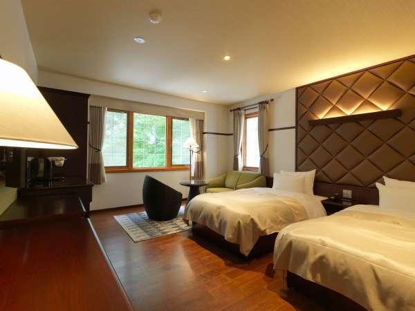 ◆ツインルーム/ナチュラルなインテリアのツインルーム(客室一例)