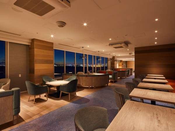 ◇ニッコーフロア専用ラウンジの窓からは刻々と変わる東京ベイエリアの雄大な景色をお楽しみいただけます。