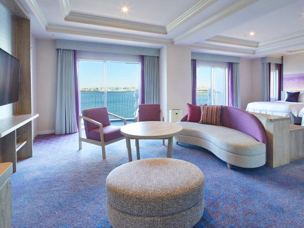 ◇ホテル上層階、ダブルベッド5台とリビングを配した85㎡「ニッコーグランファミリー」(イメージ)