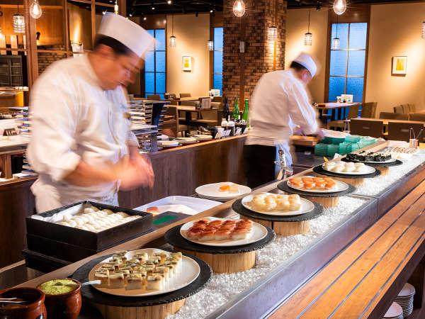 【青函市場一例】寿司コーナー。旬の魚介をお楽しみ下さい!(季節により変更)