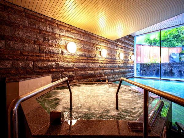 【男性大浴場】心地よい泡で体をほぐす「ジャグジー」を新設!日頃の疲れを癒してくれます。