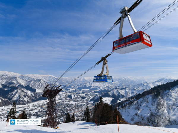 【湯沢高原スキー場】世界最大級のロープウェー。大自然のパノラマを眺めながらの空中散歩!