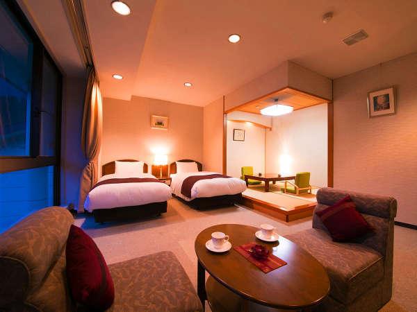 【和洋室】当館で一番広いお部屋です。老若男女問わずご愛顧いただいております
