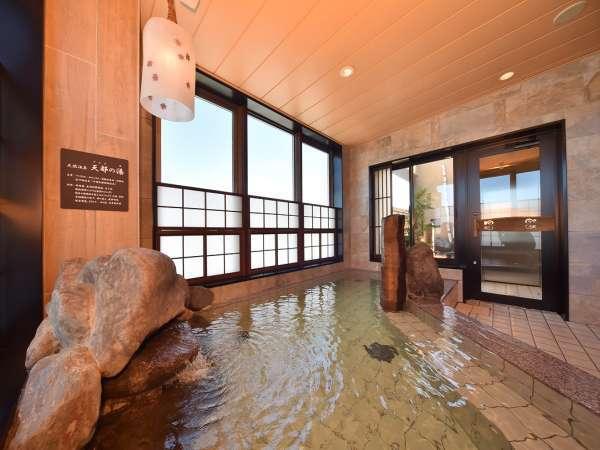【天然温泉 天都の湯】大浴場は15時から翌朝9時まで夜通しご利用頂けます。