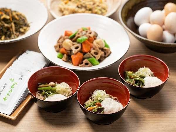 朝食ビュッフェ【朝蕎麦】