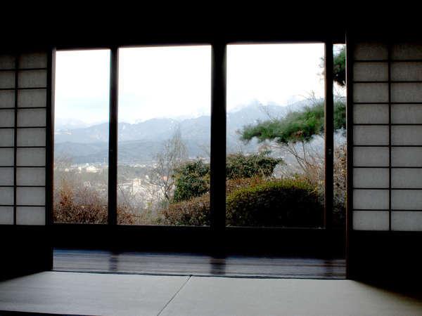 あるお部屋からの眺め。豊かな自然がご覧いただけます。(一例)