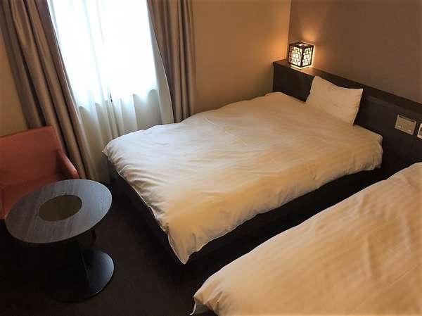 ◆ツインルーム 21㎡ ベッドサイズ:120cm×205cm×2台