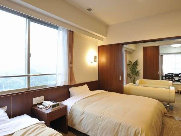 【新館】清潔で快適と評判の和洋室。ごゆっくりとおやすみ下さい♪/一例