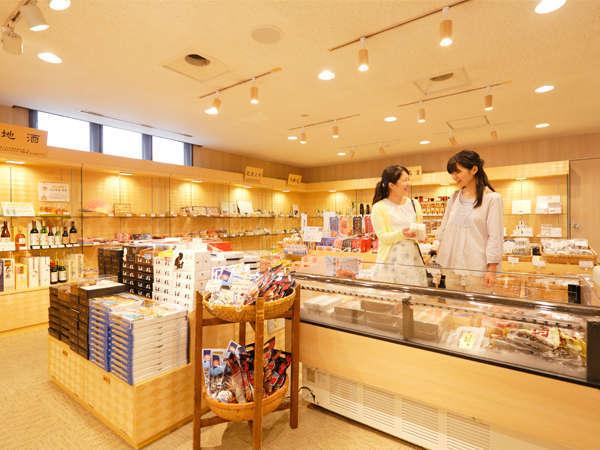 【売店】能登・加賀のお土産を取り揃えております。