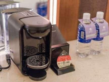 全室に無料のコーヒーマシンを完備しております。