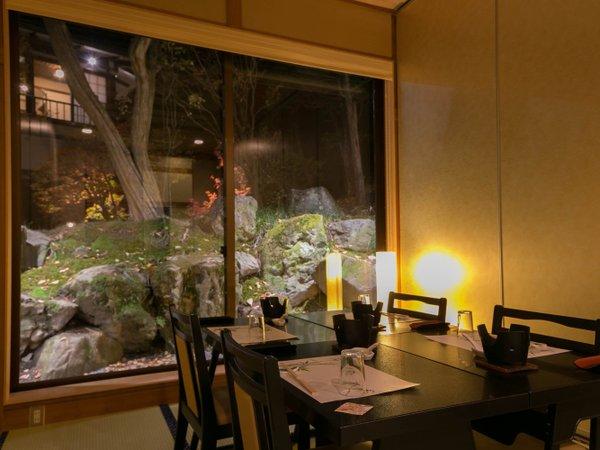 【庭園個室料亭】ライトアップされた銘庭を眺めながらゆっくりと♪